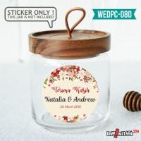 label sticker souvenir pernikahan wedding kebaya pengantin WEDPC080