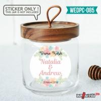 label sticker souvenir pernikahan wedding kebaya pengantin WEDPC085