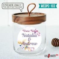 label sticker souvenir pernikahan wedding kebaya pengantin WEDPC103