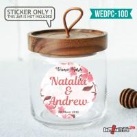 label sticker souvenir pernikahan wedding kebaya pengantin WEDPC100