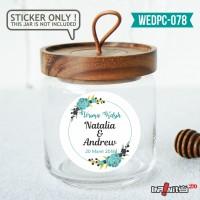 label sticker souvenir pernikahan wedding kebaya pengantin WEDPC078