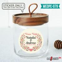label sticker souvenir pernikahan wedding kebaya pengantin WEDPC079