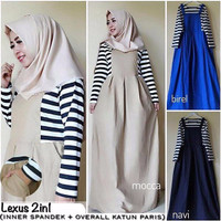 Lexus 2in1 / dress / baju set / pakaian murah / hijab terbaru