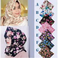 jilbab segi empat, hijab segiempat shabby chic, kerudung segiempat,