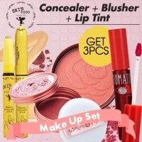 [Get 3pcs]THE SKIN FOOD Blusher + Banana Concealer Stick + Tomato Coo