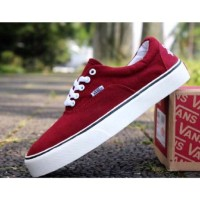 Sepatu Pria Vans Suicidal Tendencies Maroon Waffle IFC Casual Sneakers