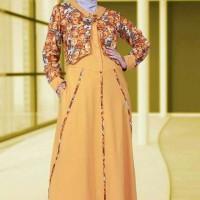 Baju Gamis / Dress Muslimah Bahan Kaos Murah Rahnem GM 1332
