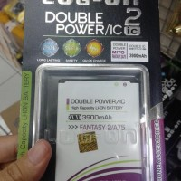 BATERAI BATRE BATTERY LOGON DOUBLE POWER MITO FANTASY2 A75