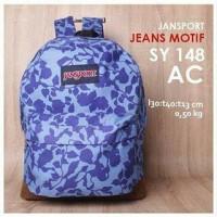 Tas Ransel Jansport Jeans Motif Blue