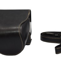 Leather Case For Sony Alpha A6000 - HITAM