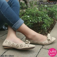Sepatu Flat Shoes Gratica Am 49 Krem