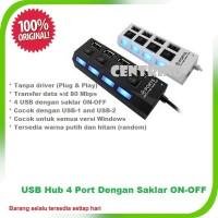 Jual USB Hub 4 Port Dengan Saklar ON-OFF Murah