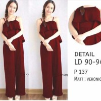 Anastasya jumsuit maroon / baju dres merah / toko terbaru
