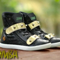 Sepatu Zumba Dance Spike Woman Black Gold