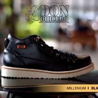 Sepatu Dondichero Millenium Kulit Hitam