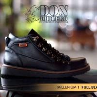 Sepatu Dondichero Millenium Kulit Full Hitam