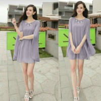 pakaian import dress panjang/model baju gaun Dress Brenda Fit XL Ekskl
