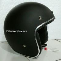 harga Helm Retro Classic Chrome Hitam CC: Cakil KYT Centro Cargloss Tokopedia.com