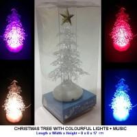 CHRISTMAS TREE WITH COLOURFUL LIGHTS + MUSIC - USB