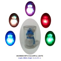 SNOWMAN WITH COLOURFUL LIGHTS - USB