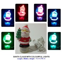 SANTA CLAUS WITH COLOURFUL LIGHTS - USB. Made in China