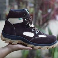 sepatu kickers gorotex boots kulit suede brown ori handmade