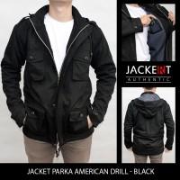 Jual Jaket Parka American Drill - Black Murah
