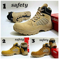 Discount Sepatu Shoes Kickers Delta Tracking Boots Safety Suede Leathe