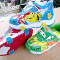 harga Sepatu LAMPU NYALA ANAK GROSIR CARS MCQUEEN LIGHT SHOES MURAH Tokopedia.com