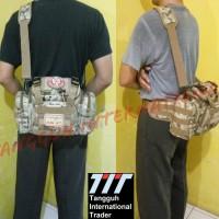 Tas Selempang Camera Army; Slempang Mancing Import; Fishing Sling Bag