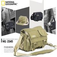 Tas Kamera Selempang DSLR National Geographic Canvas Bag - NG2345