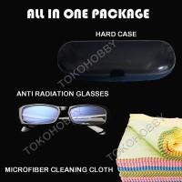 Kacamata Anti Radiasi komputer (laptop lcd monitor tv) kaca mata lelah