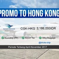 TIKET PESAWAT GARUDA JAKARTA-HONG KONG