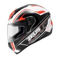 Helm Zeus Fullface ZS-811 White/AL5 Red Size XL