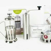 Jual Coffee Maker Set 6 (French Press, Vietnam Drip, Grinder) | Alat kopi Murah
