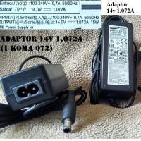 Adaptor Samsung 14V 1,072A biasa banyak untuk monitor LED LCD dan la