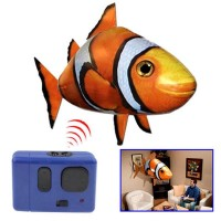 Air Swimmer Remote Control Flying Fish Mainan Anak Bagus