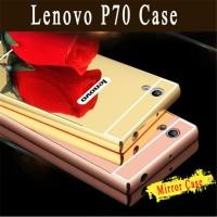 LENOVO P70 alluminium Metal Bumper mirror With Hard Back case cover