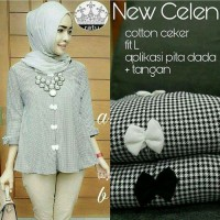 busana muslim/baju wanita/gamis muslimah/tunik blouse/atasan/new celen