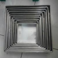 loyang/kotak/24 cm/alumunium/anti karat/cetakan/kue/persegi