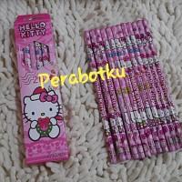 Pencil 2B / Pensil Kayu Tulis Karakter HELLO KITTY 12pcs