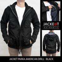Jual Jaket Parka Twill - Pure Black (JAKERT ORIGINAL) Murah