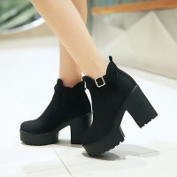 harga Sepatu High heels BOOT wanita Cn / Boot CN Hitam Tokopedia.com