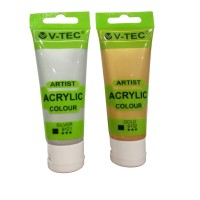 V-TEC Acrylic Colour 75ml Type VT 975 / Cat Acrylic / Gold Silver
