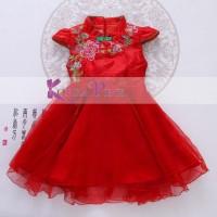 Jual dress pesta anak korea pink Murah