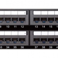 D-Link NPPC61BLK481 Cat 6 UTP 48-Port Patch Panel Fully Loaded