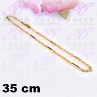 Yaxiya kalung nuri balok besar perhiasan imitasi lapis emas aksesoris