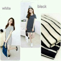 LL - ONECK LONG STROP DRESS | DRESS WANITA | DRESS PUTIH