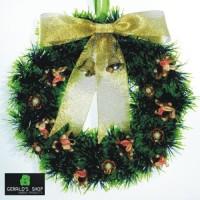 Karangan Bunga Hiasan Natal Gold / Christmas Wreath / Pohon Natal