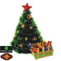 Jual Hiasan Meja Pohon Natal dan Satu Box Cokelat / Kado / Hadiah Murah